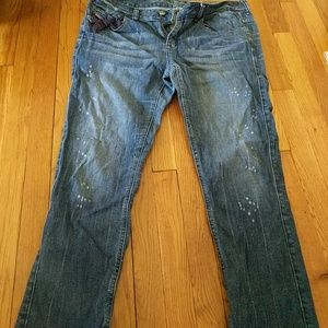 Express size 12 cropped jeans
